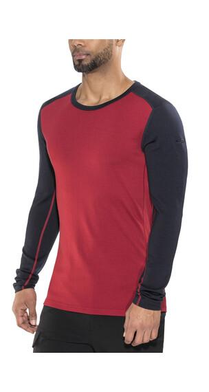 Icebreaker Tech Top Ondergoed bovenlijf rood/zwart
